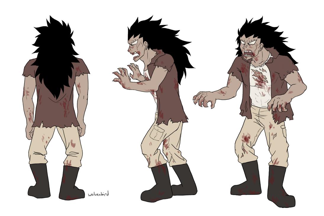 Gajeel zombie design by WolvenBird