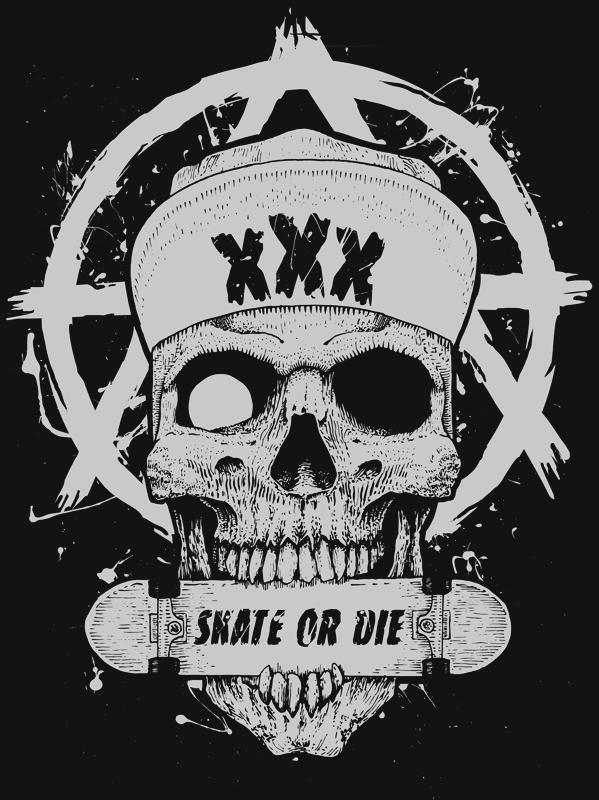 Raiders Tattoo Skull Skate or Die! by Chmur...