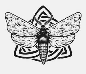 Moth Tattoo by Chmurzasty