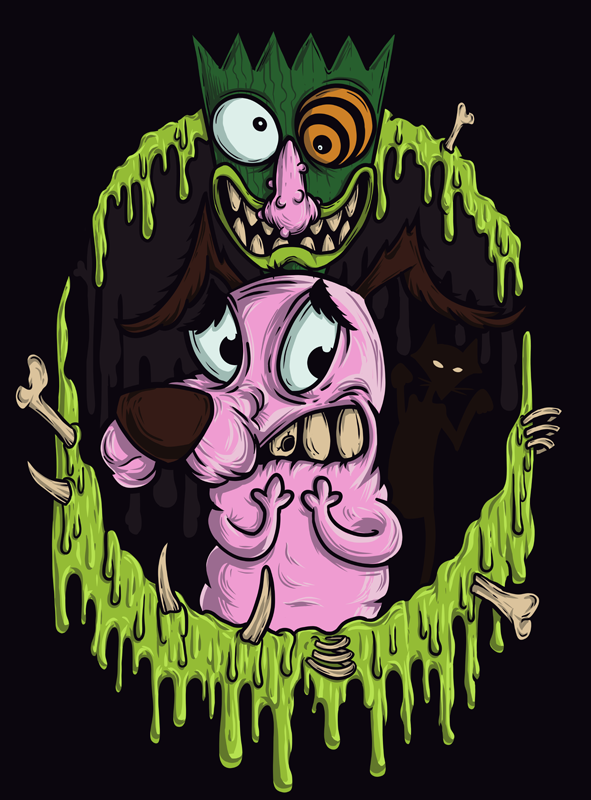 Courage the Cowardly Dog! by Chmurzasty