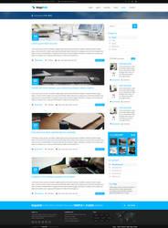 MajeStik Blog Layout Design (Blue) by MajeStik91