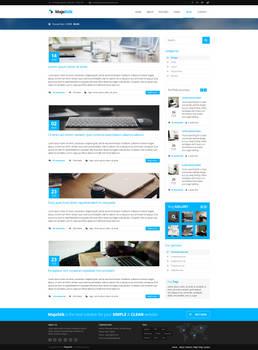 MajeStik Blog Layout Design (Blue)
