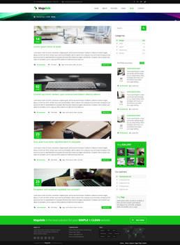 MajeStik Blog Layout Design (Green)