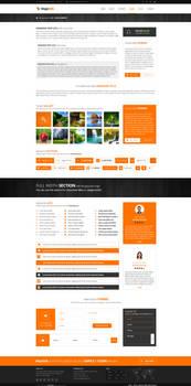 MajeStik PSD Corporate Responsive Design (Orange)