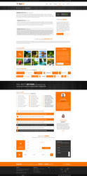 MajeStik PSD Corporate Responsive Design (Orange) by MajeStik91