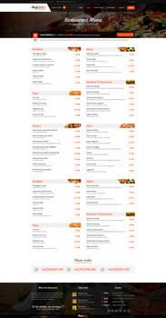 Majestik PSD Restaurant Template MENU