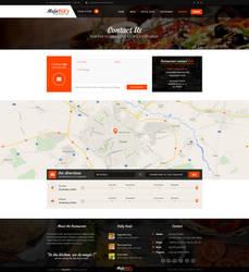 Majestik PSD Restaurant Template (Contact page) by MajeStik91