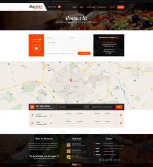 Majestik PSD Restaurant Template (Contact page)
