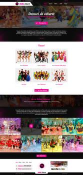 Cabaret Dance website design