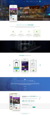 Mall App landing page