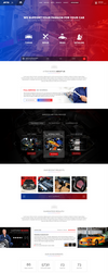 Car Tuning Service website design by MajeStik91
