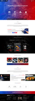 Car Tuning Service website design by MajeStik91