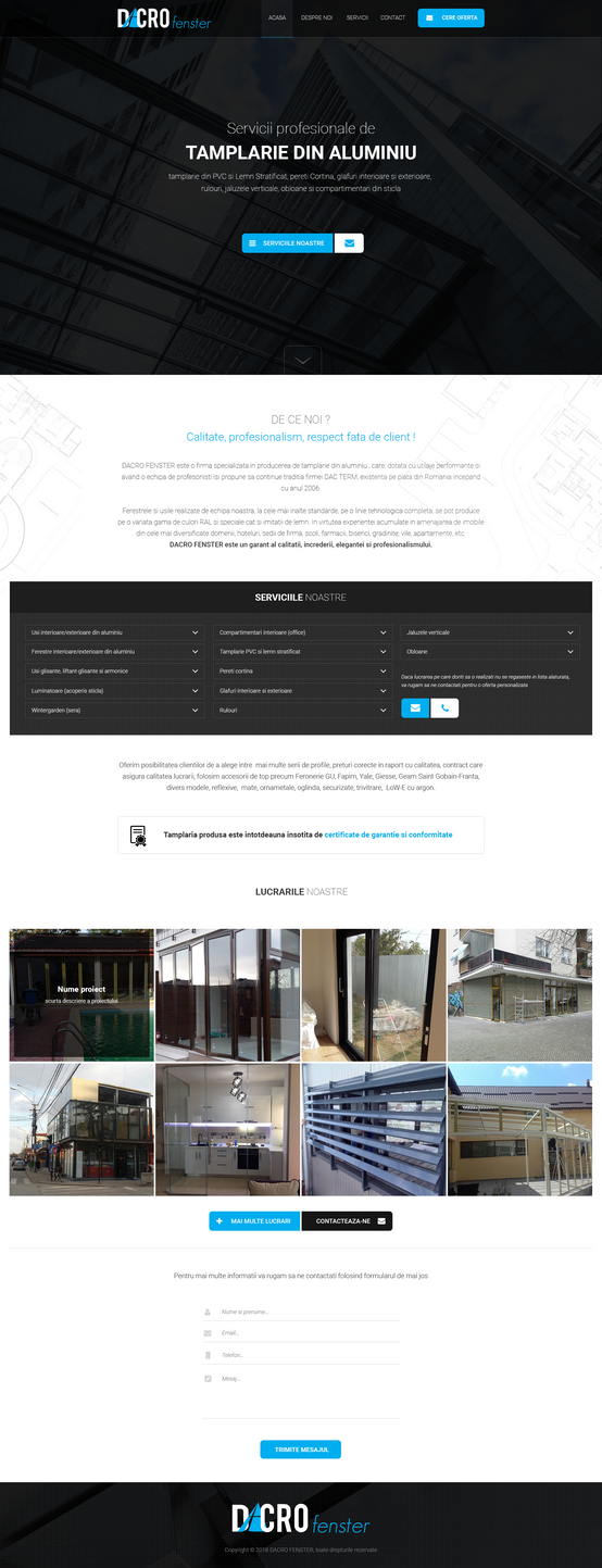 Dacro.ro - Joinery website template by MajeStik91
