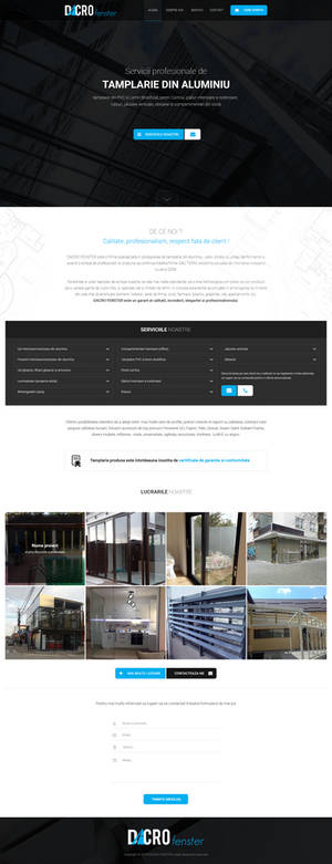 Dacro.ro - Joinery website template