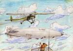 Airfield sky by roooooooost