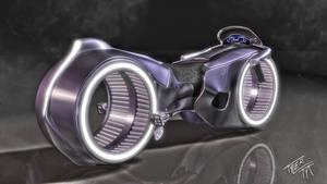 TRON Light Cycle Disney view