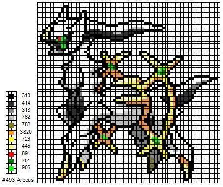 Solgaleo Pixel Art Grid