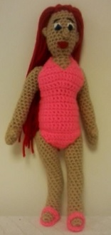 Doll with Swimsuit and Sandals by cdbvulpix
