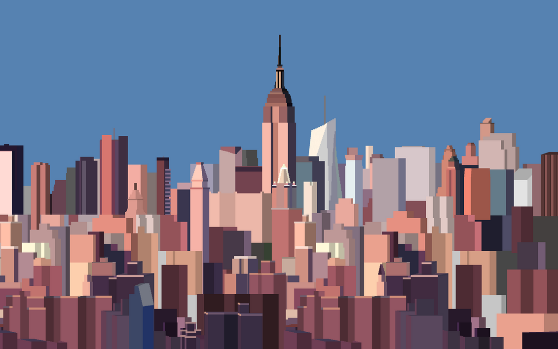 8 Bit New York Skyline Wallpaper By CurtisBell