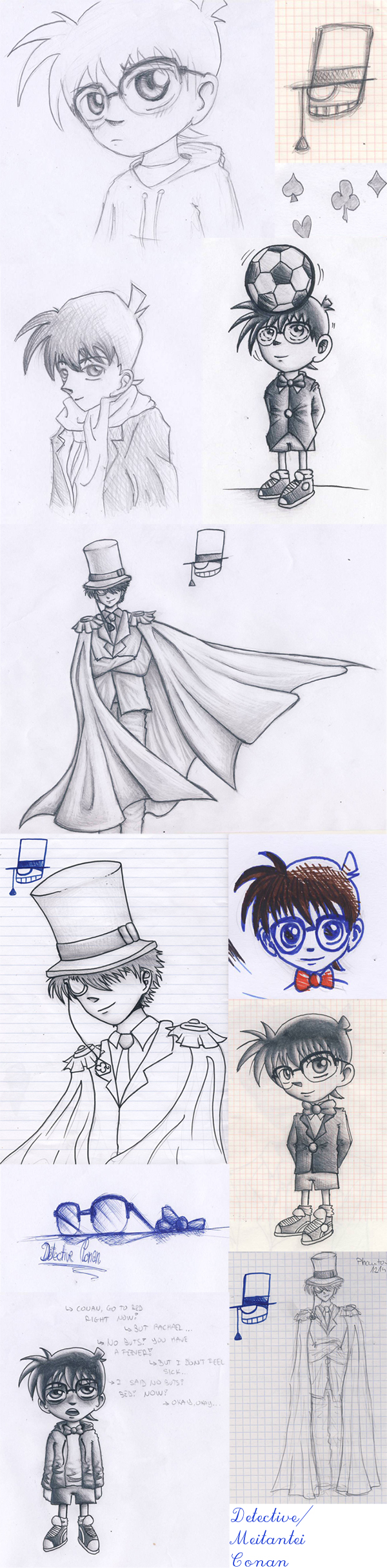 Detective Conan Sketches by bbfan77