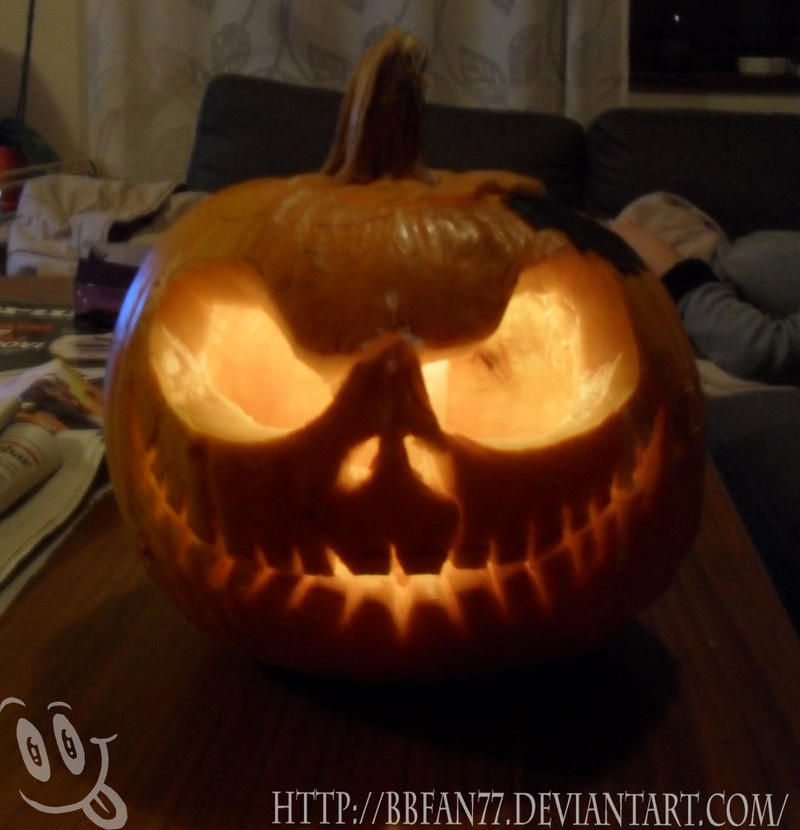 Jack-o-lantern Skellington by bbfan77
