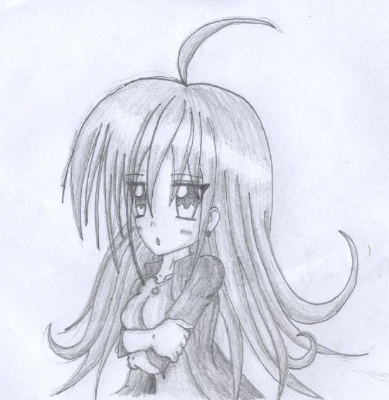 Animegirlpencildrawingbyeclipsekumori Dlcfa