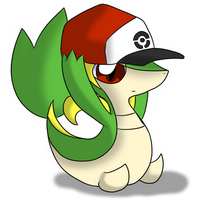Snivy has your Hat by oldanthropokemon
