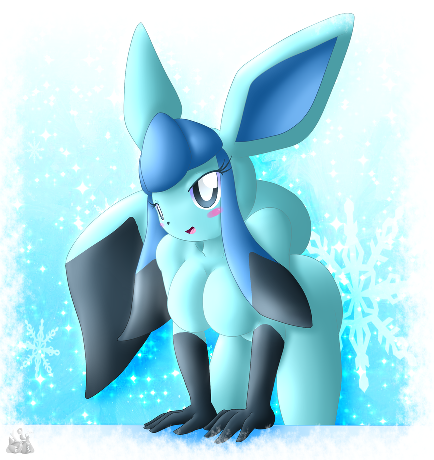 Glaceon Anthro by oldanthropokemon