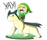 Link and Typhlosion