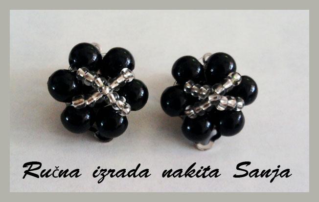 Black earrings by Sanjabeads