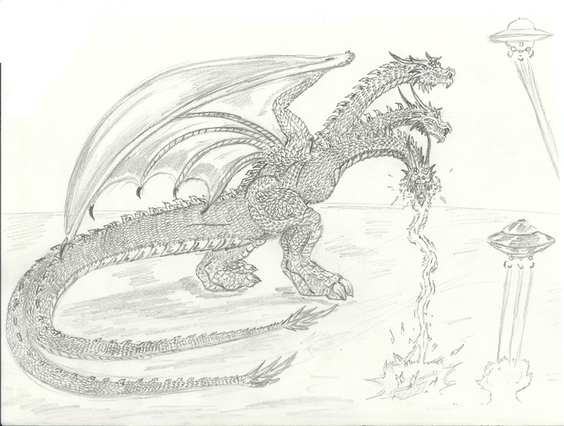 King Ghidorah sketch by Pyrotyrannis on DeviantArt