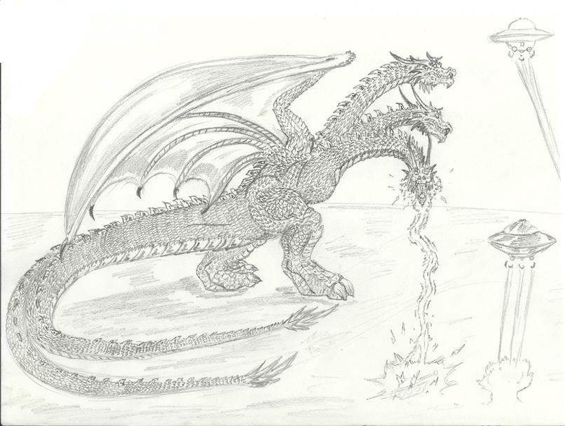 King Ghidorah sketch by Pyrotyrannis on DeviantArt