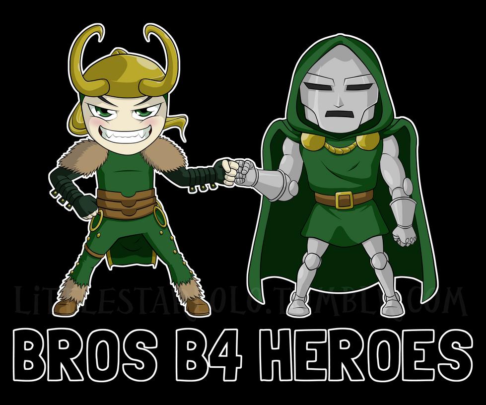 Bros B4 Heroes by DemonLuna