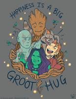 happiness is a big groot hug by DemonLuna