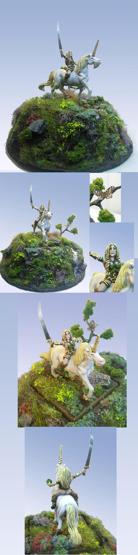 Girl on Unicorn mini sculpt by Morhin