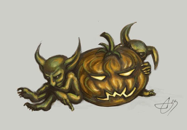 Goblin Pumpkin by Morhin