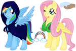 Eclipseverse Rainbow Dash and Fluttershy