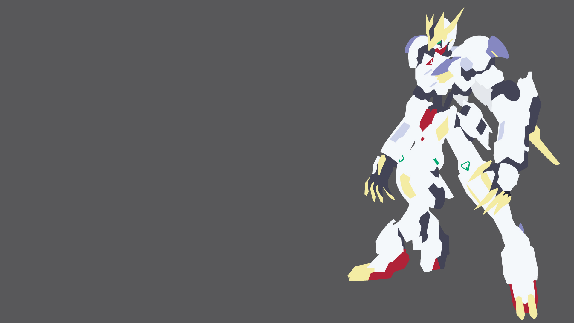 Gundam Barbatos Lupus Rex Minimalist By Lightgray02 On Deviantart
