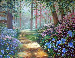 Bosque floreado