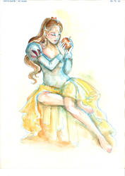 Snow white - watercolor collection by Isis-M