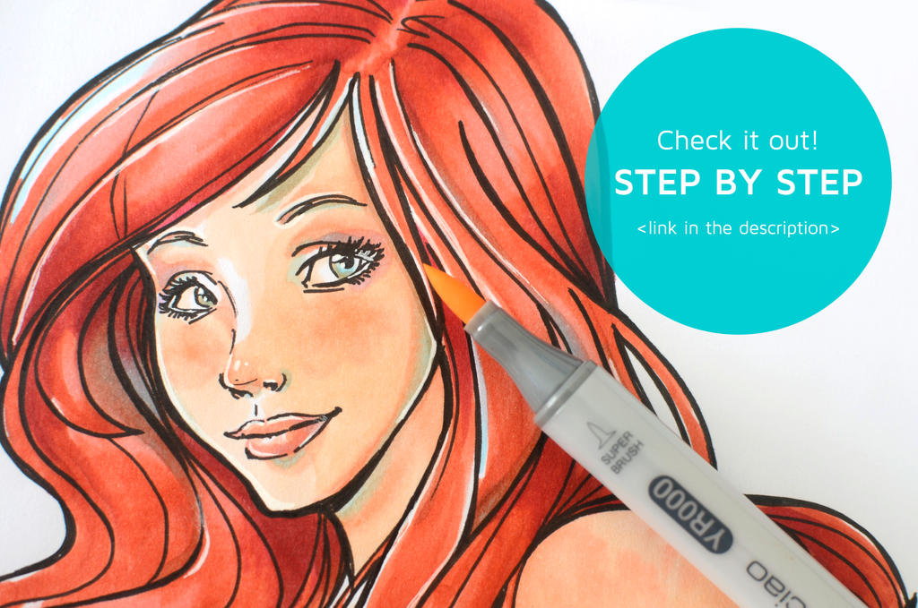 Tutorial: How to Color with Copics: Little mermaid by Isis-M on ...