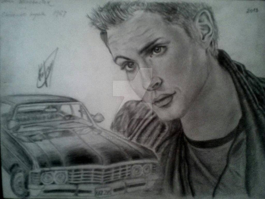 Dean Winchester with Chevrolet Impala by SvetikKorzh