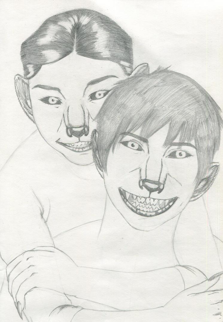 The twins portrait by dreadwolfclaw