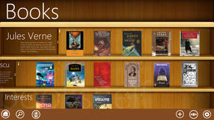 Metro UI : Books (bookshelf view) by Brebenel-Silviu