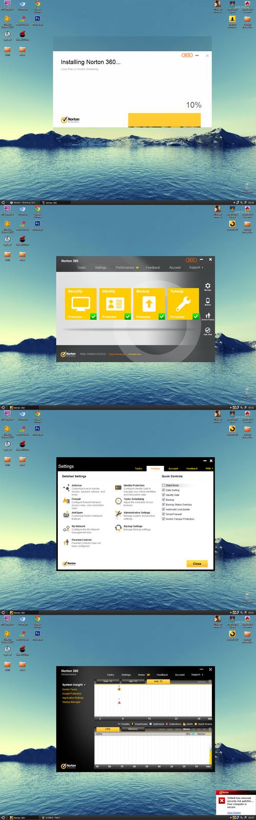 Norton 360 with Metro UI by Brebenel-Silviu