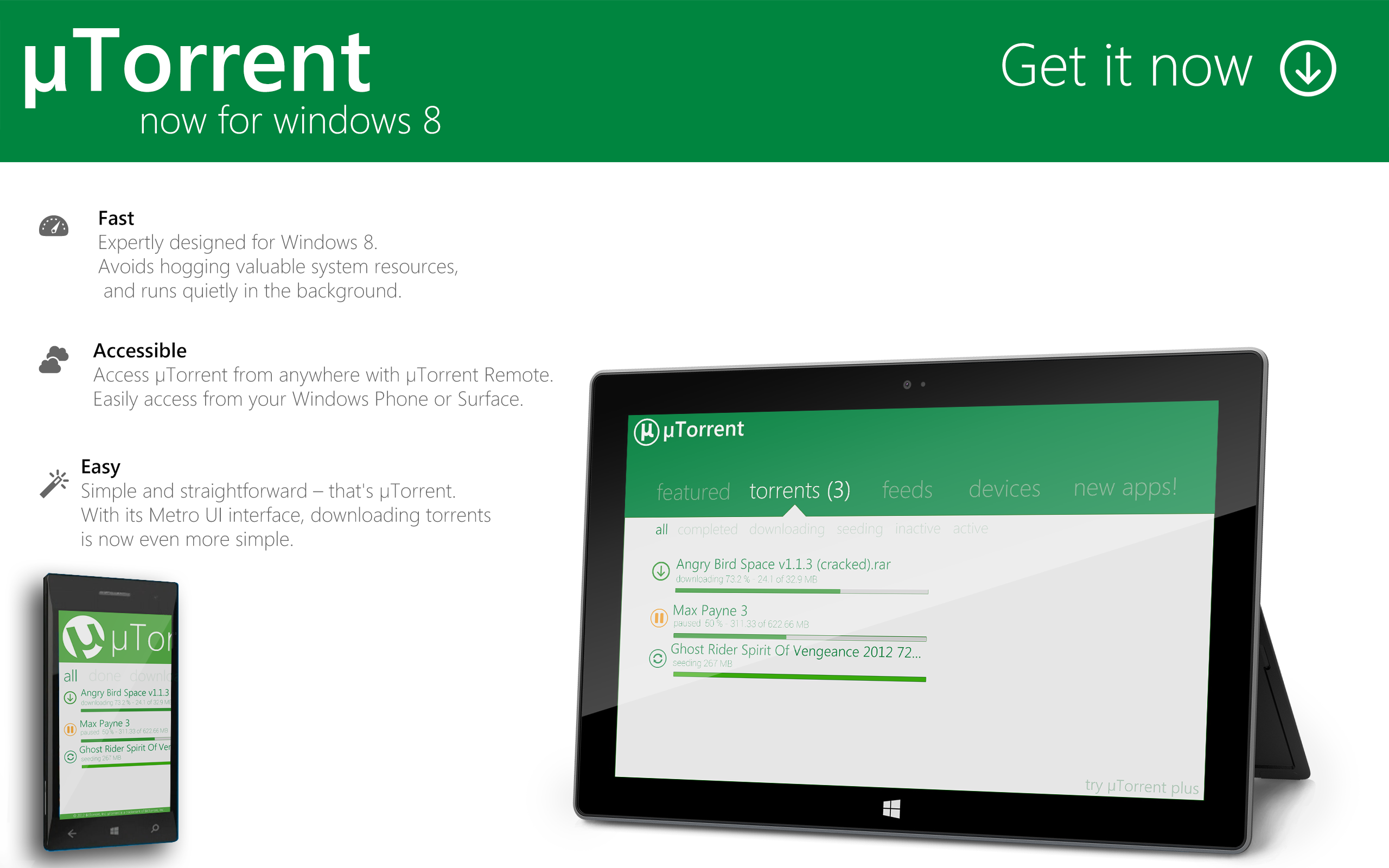 uTorrent : Windows 8 Ad by Brebenel-Silviu