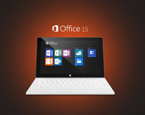 Office 15 on Surface 2