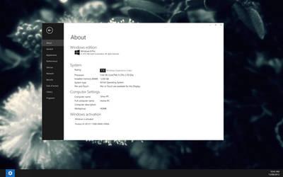 Modern UI : About PC