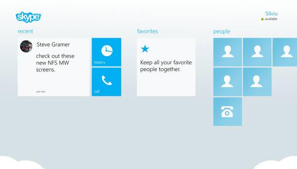 Skype for Modern UI