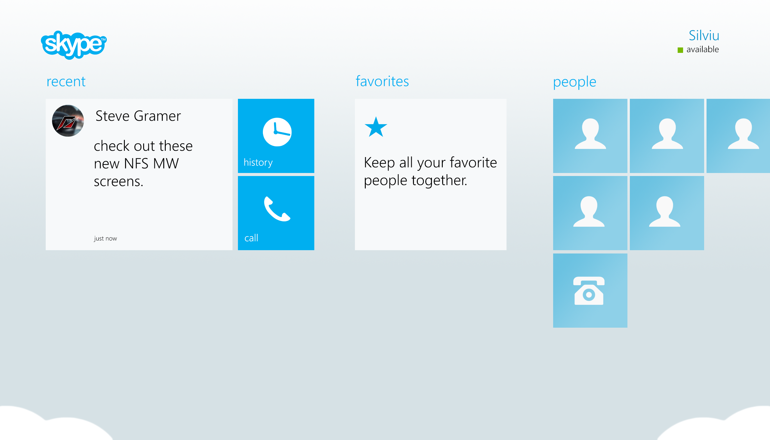 Skype for Modern UI by Brebenel-Silviu